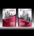Brochure template layout red cover design vector image