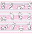 pattern with rabbit vector image vector image