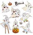 Halloween ghosts vector image vector image