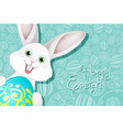 Easter Holiday Background with Egg and Rabbit vector image