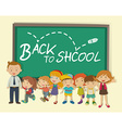 Children and teacher back to school vector image