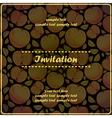 invitation card with apples vector image