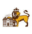 Angry Lion Paw on House Isolated Retro vector image vector image