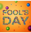 April Fools Day background vector image