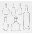 bottles set on transparent background vector image