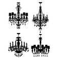 French chandeliers vector image