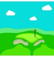 Golf hole green tee background vector image