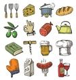 hand drawn kitchen vector image