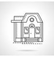 Housing flat line design icon vector image