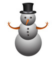 isolated snowman emoji vector image