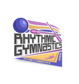 logo for rhythmic gymnastics vector image