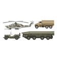 military transport with armored corpus isolated vector image