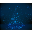 dark christmas back vector image