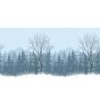 Seamless winter landscape vector image