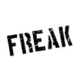 Freak rubber stamp vector image