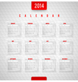 design template - Calendar of 2014 vector image