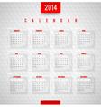 design template - Calendar of 2014 vector image vector image