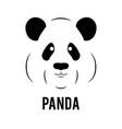 panda face logo template flat vector image vector image