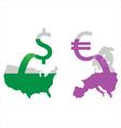 Money printing vector image