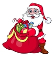 Santa Claus with sack full of gifts 2 vector image