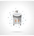Bathroom washstand flat color icon vector image