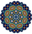blue and green mandala vector image
