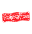 Fantastic red grungy stamp isolated vector image