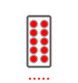 pills in blister it is icon vector image