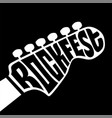 rock fest lettering vector image