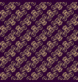 seamless pattern with swirls on the diagonal vector image