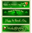 St Patricks Day headers or banners set vector image