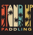stand up paddle set in flat design style vector image
