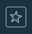 starfish outline symbol premium quality isolated vector image