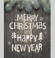 xmas and new year holiday greeting card vector image vector image