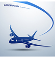 Airplane icon2 vector image