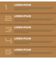 brown modern design business horizontal banners vector image