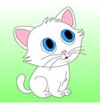 Small white kitten vector image