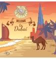 Hand Drawn Dubai Background vector image