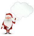 happy santa claus character with a speech bubble vector image