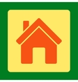 House Icon from Commerce Buttons OverColor Set vector image