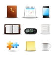 Realistic Time Management Icons vector image