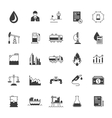 Set Icons Oil Industry vector image