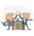 two businessmen celebrate deal vector image