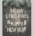 xmas and new year holiday greeting card vector image