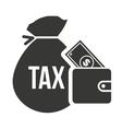 bag money tax investment vector image