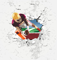 player football touchdown vector image vector image