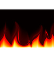 Flames Background vector image vector image