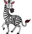 funny zebra cartoon vector image vector image