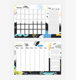 bundle of month and weekly planner templates with vector image