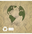 Earth on paper craft background vector image